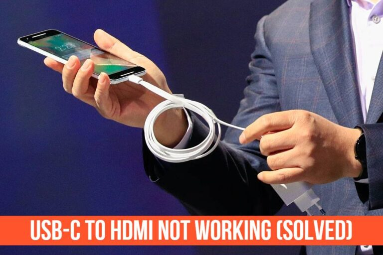 Read more about the article USB-C To HDMI Not Working (Solved)